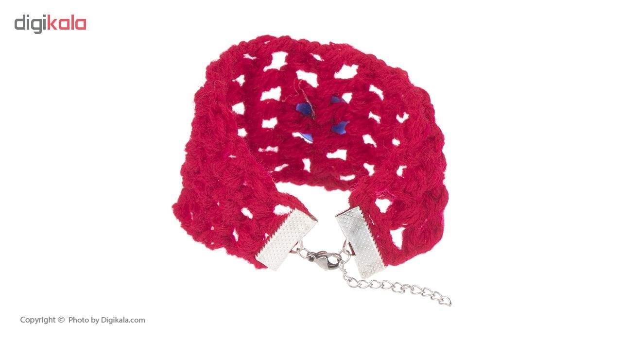 دستبند زنانه طرح چشم نظر کد 8 تک سایز main 1 2