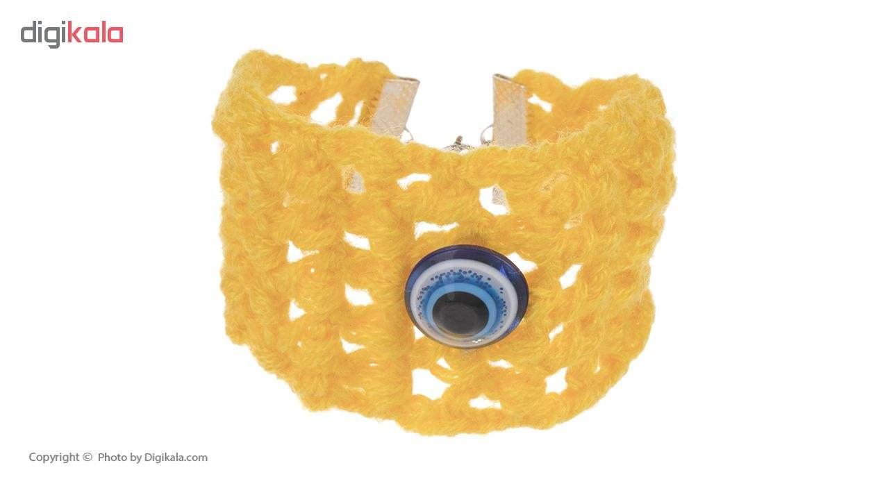 دستبند زنانه طرح چشم نظر کد 9 تک سایز main 1 1
