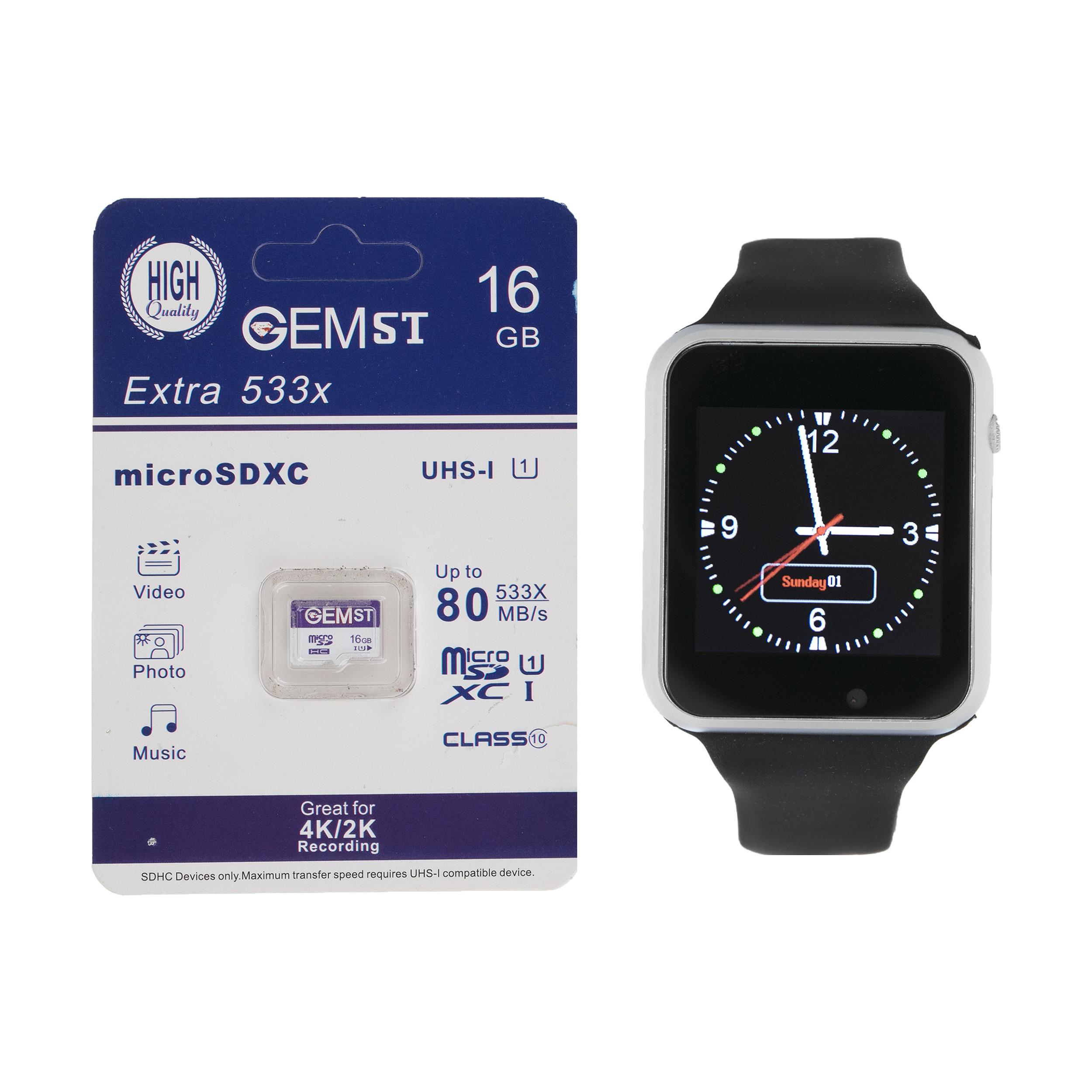 ساعت هوشمند جی-تب مدل W101 Hero به همراه کارت حافظه 16 گیگابایتی