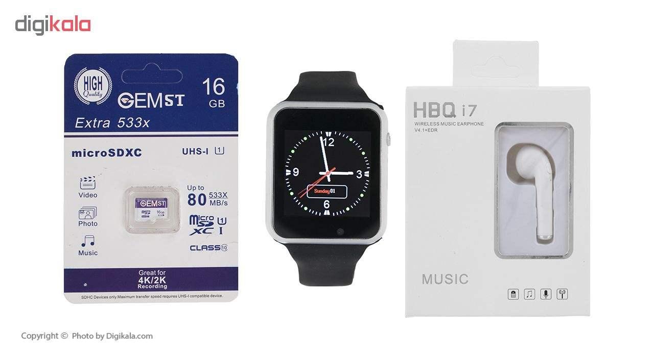 ساعت هوشمند جی-تب مدل W101 Hero به همراه هندزفری اچ بی کیو مدل i7 و کارت حافظه 16 گیگابایتی main 1 1