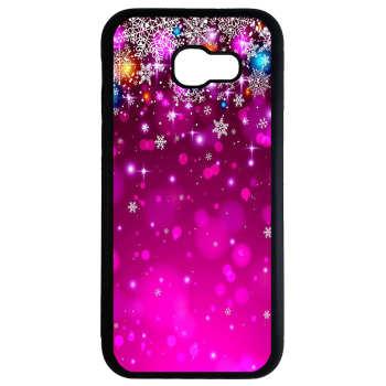 کاور طرح برف بنفش کد 8417 مناسب برای گوشی موبایل سامسونگ galaxy a5 2017