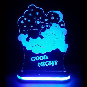 چراغ خواب کودک طرح شب بخیر کد 1073