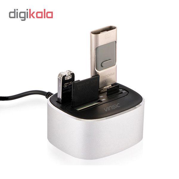 هاب 3 پورت USB 2.0 وینسیک مدل CH7