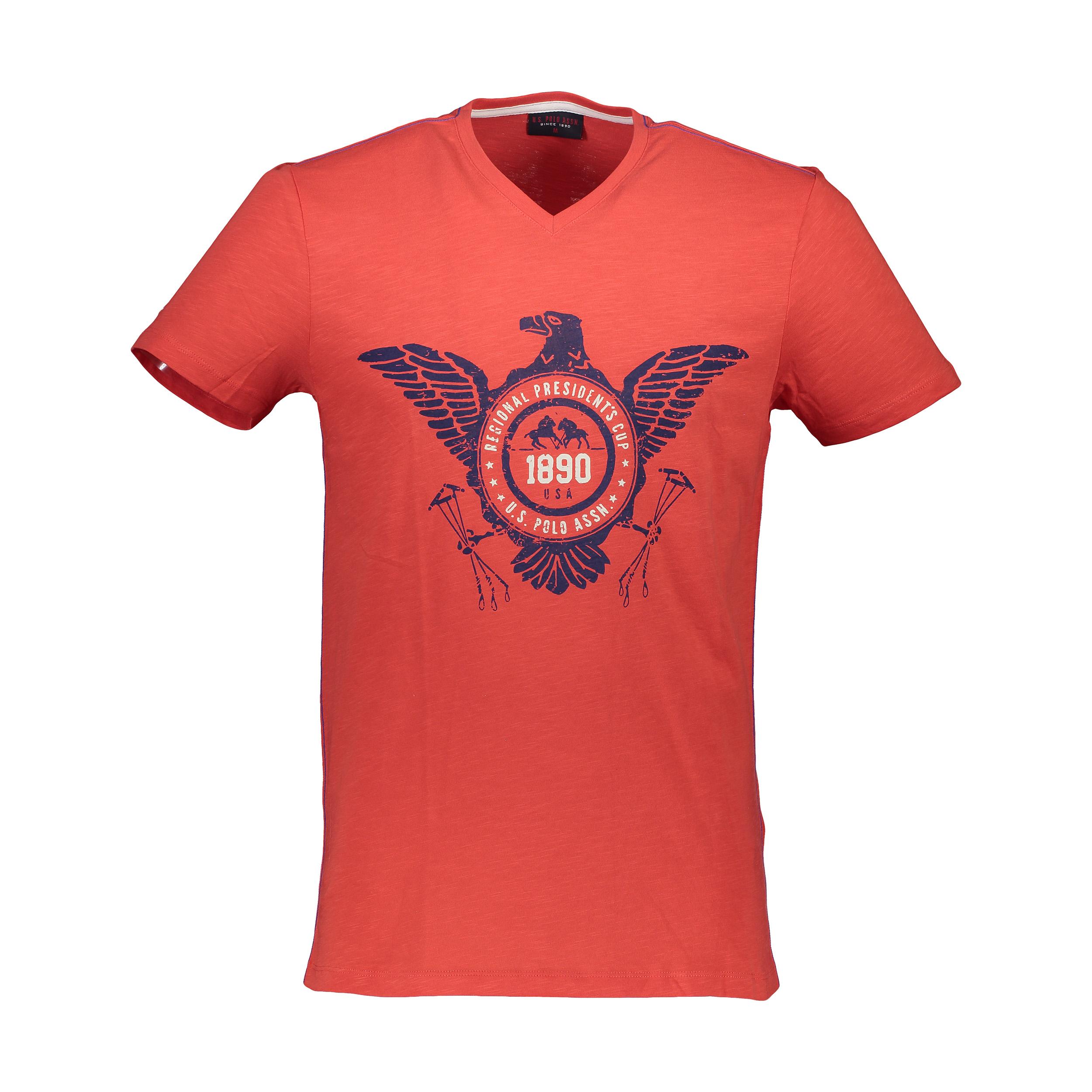قیمت تی شرت آستین کوتاه مردانه یو اس پولو مدل 081125