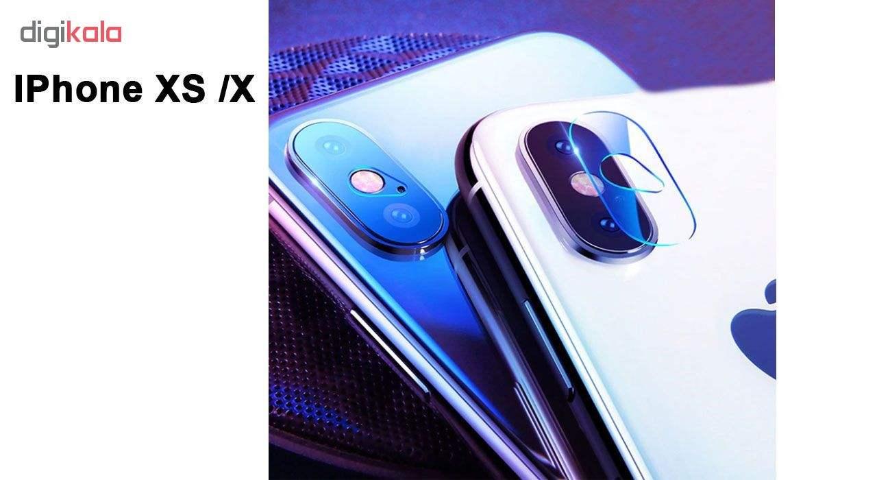 محافظ لنز دوربین هورس مدل UTF مناسب برای گوشی موبایل اپل iPhone X بسته دو عددی main 1 4