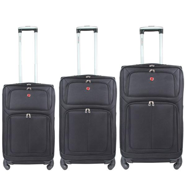 مجموعه سه عددی چمدان سوییس گیر مدل 225559