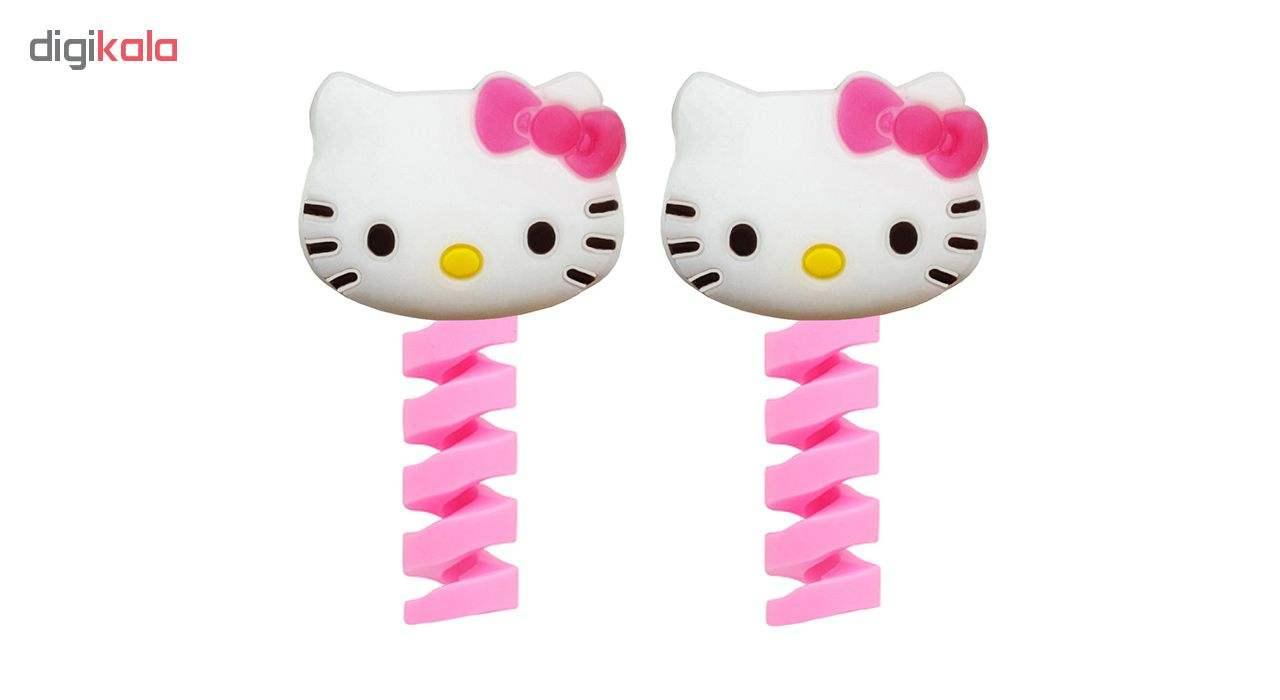 محافظ کابل شارژ طرح Hello Kitty کد F1 بسته دو عددی main 1 1