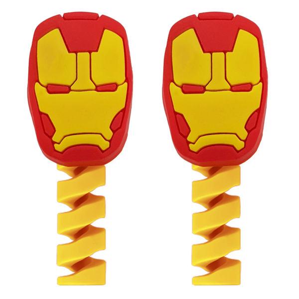 محافظ کابل شارژ طرح Iron Man کد F1 بسته دو عددی