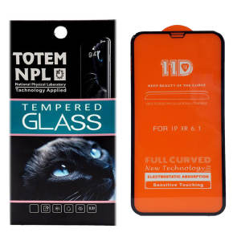 محافظ صفحه نمایش توتم مدل 11D Fullcover مناسب برای گوشی موبایل اپل Iphone XR