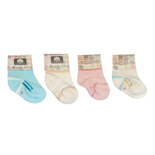جوراب نوزادی هدیه کد ۲-۰۱۰۵۰ مجموعه چهار عددی