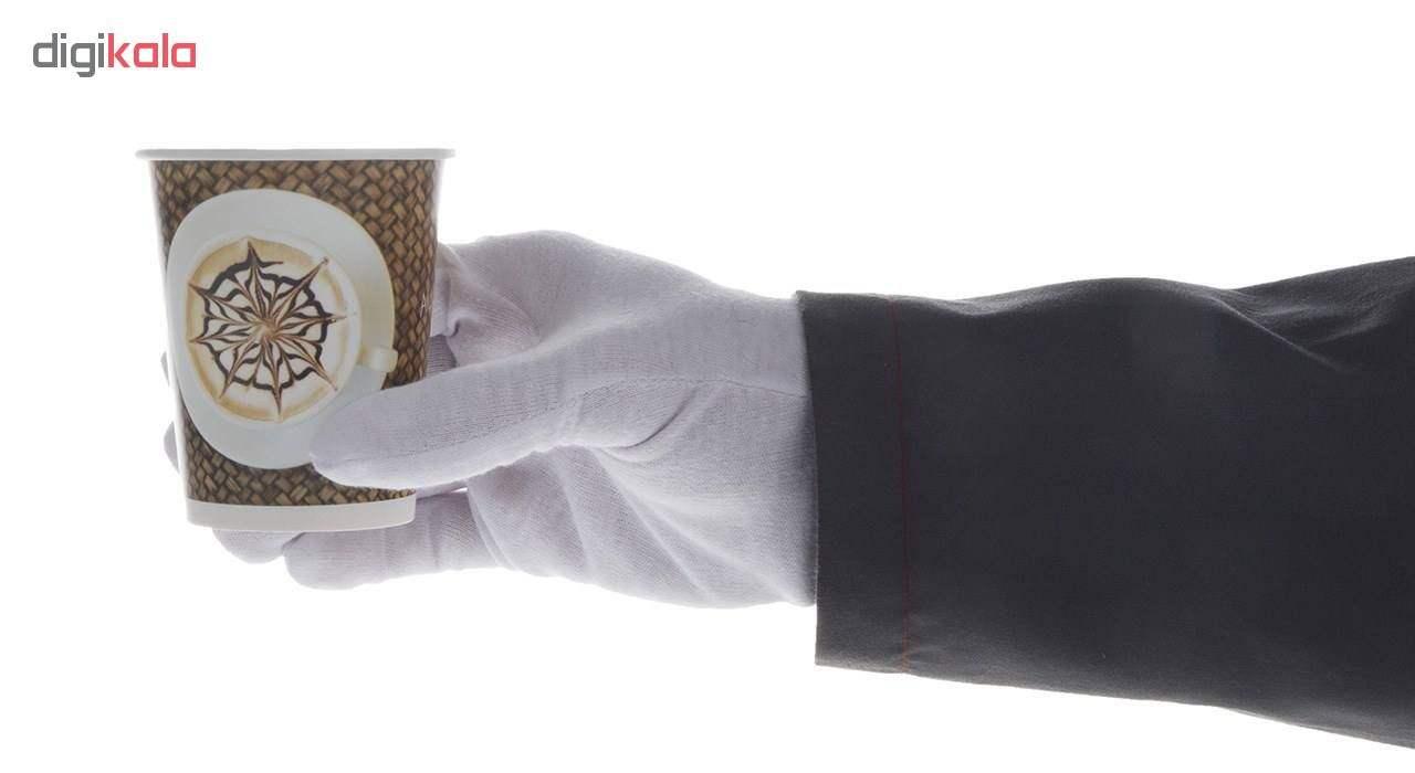 لیوان یکبار مصرف کاغذی الین پلاست مدل KGH2-40 بسته 40 عددی main 1 9