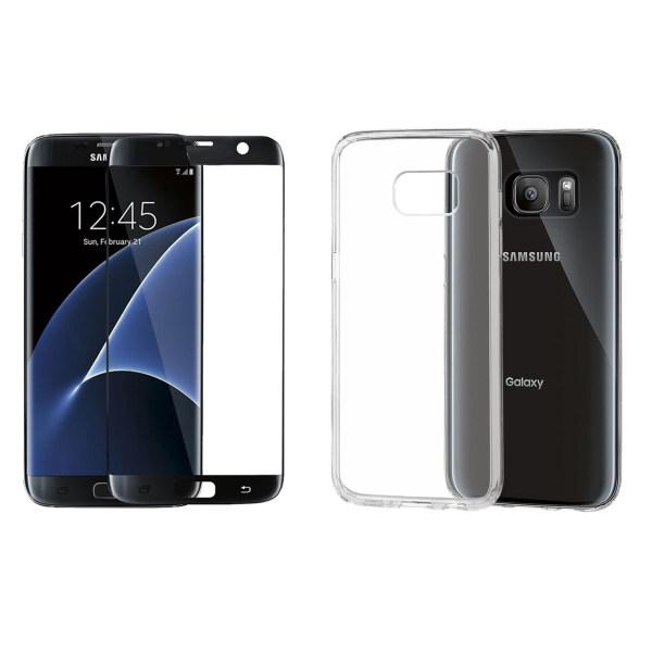کاور مدل Cl-002 مناسب برای گوشی موبایل سامسونگ Galaxy S7 edge به همراه محافظ صفحه نمایش دور چسب Hard and thick