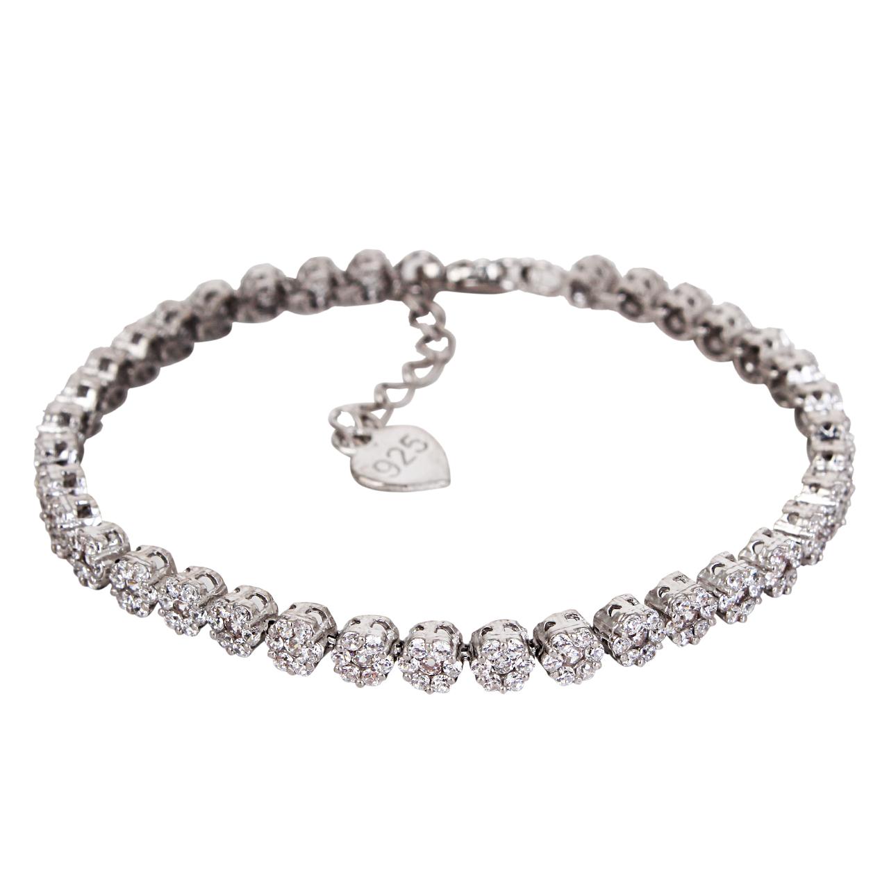 قیمت دستبند نقره زنانه مدوکلاس کد 180385
