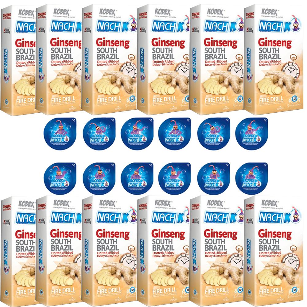 قیمت کاندوم ناچ کدکس مدل GENSING مجموعه 12 عددی به همراه کاندوم ناچ کدکس مدل بلیسر بسته 12 عددی