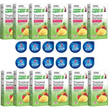 کاندوم ناچ کدکس مدلTROPICAL SENSE مجموعه 12 عددی به همراه کاندوم ناچ کدکس مدل بلیسر بسته 12 عددی