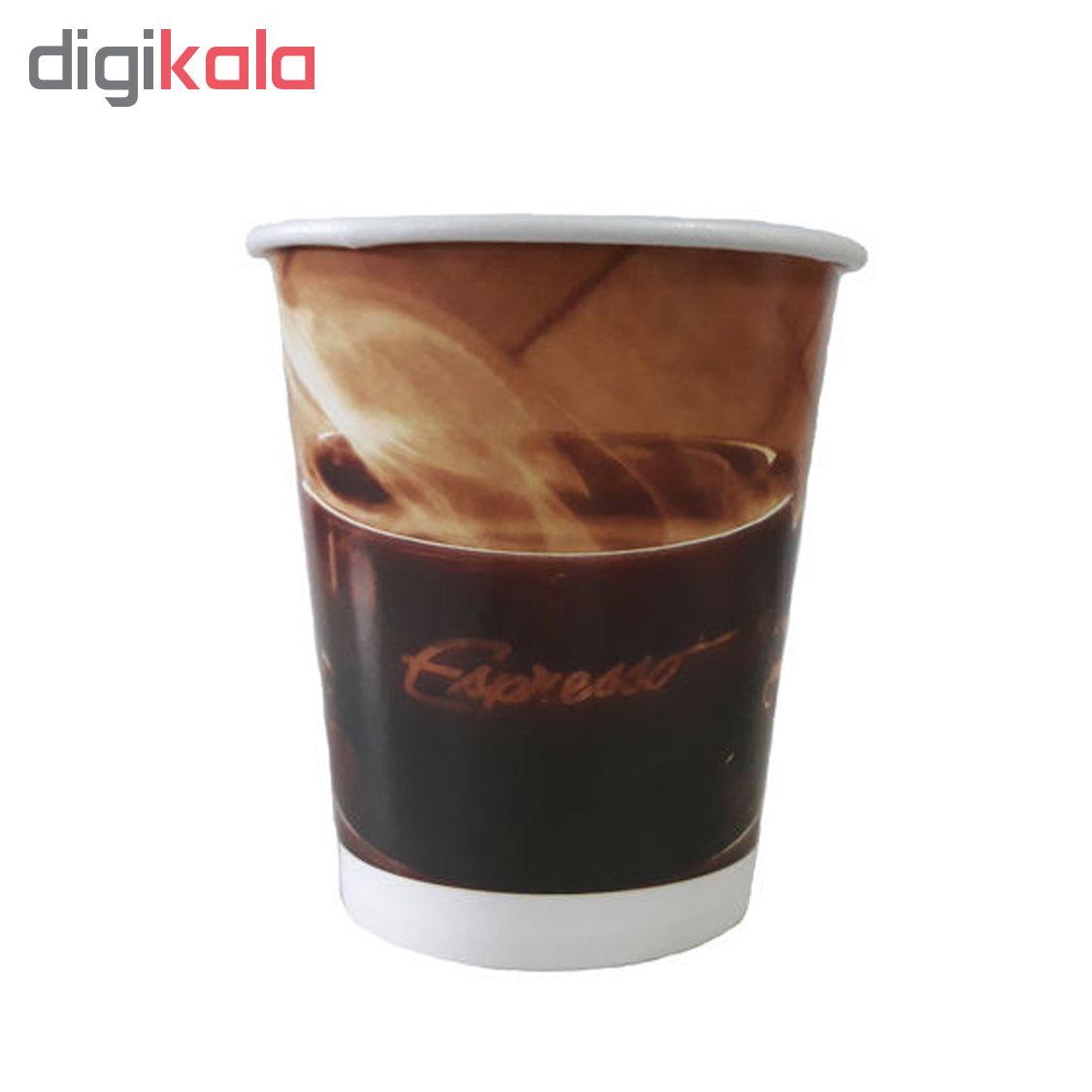 لیوان یکبار مصرف کاغذی الین پلاست مدل KGH3-40 بسته 40 عددی