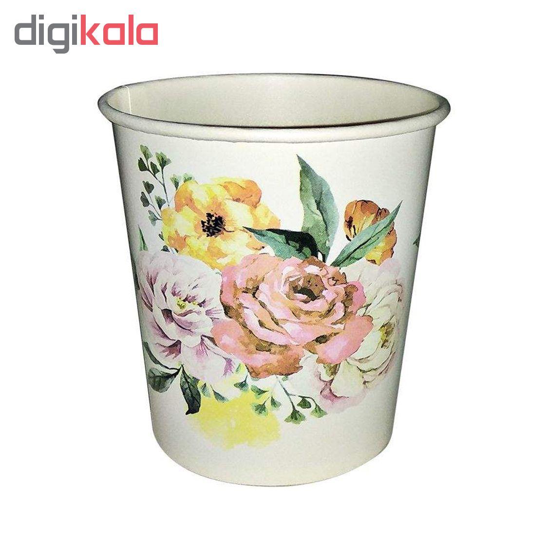 لیوان یکبار مصرف کاغذی الین پلاست مدل KGH3-100 بسته 100 عددی