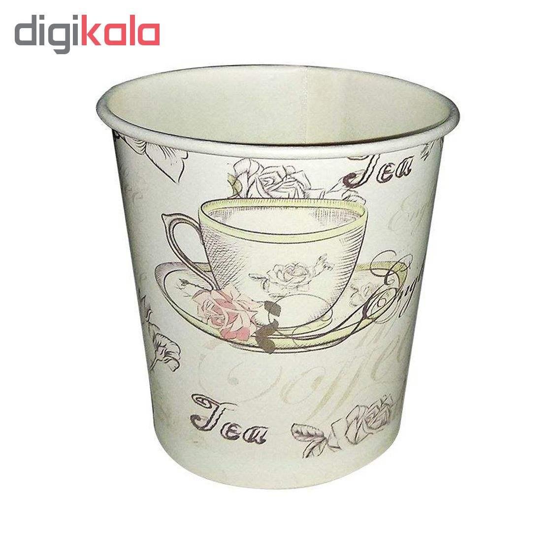 لیوان یکبار مصرف کاغذی الین پلاست مدل KGH2-40 بسته 40 عددی main 1 4