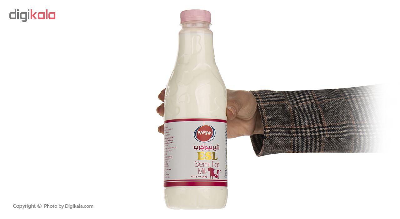شیر نیم چرب رامک مقدار 1 لیتر