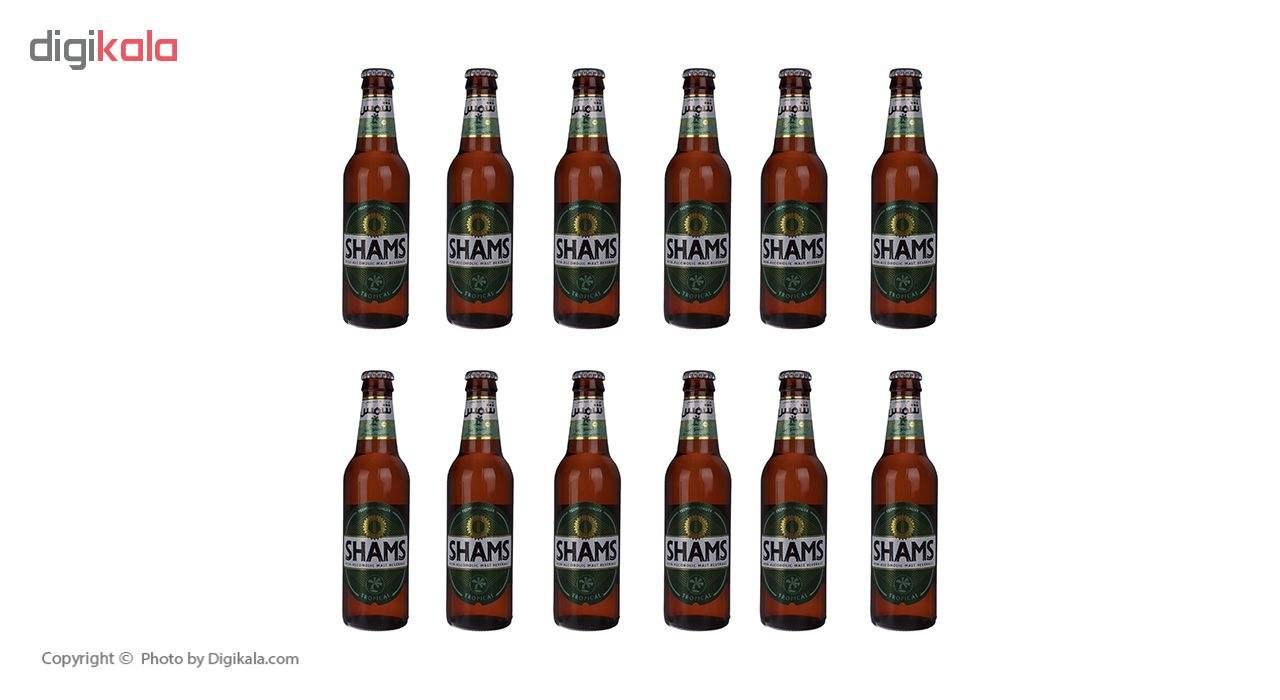 نوشیدنی مالت بدون الکل استوایی شمس مقدار 320 میلی لیتر بسته 12 عددی main 1 2