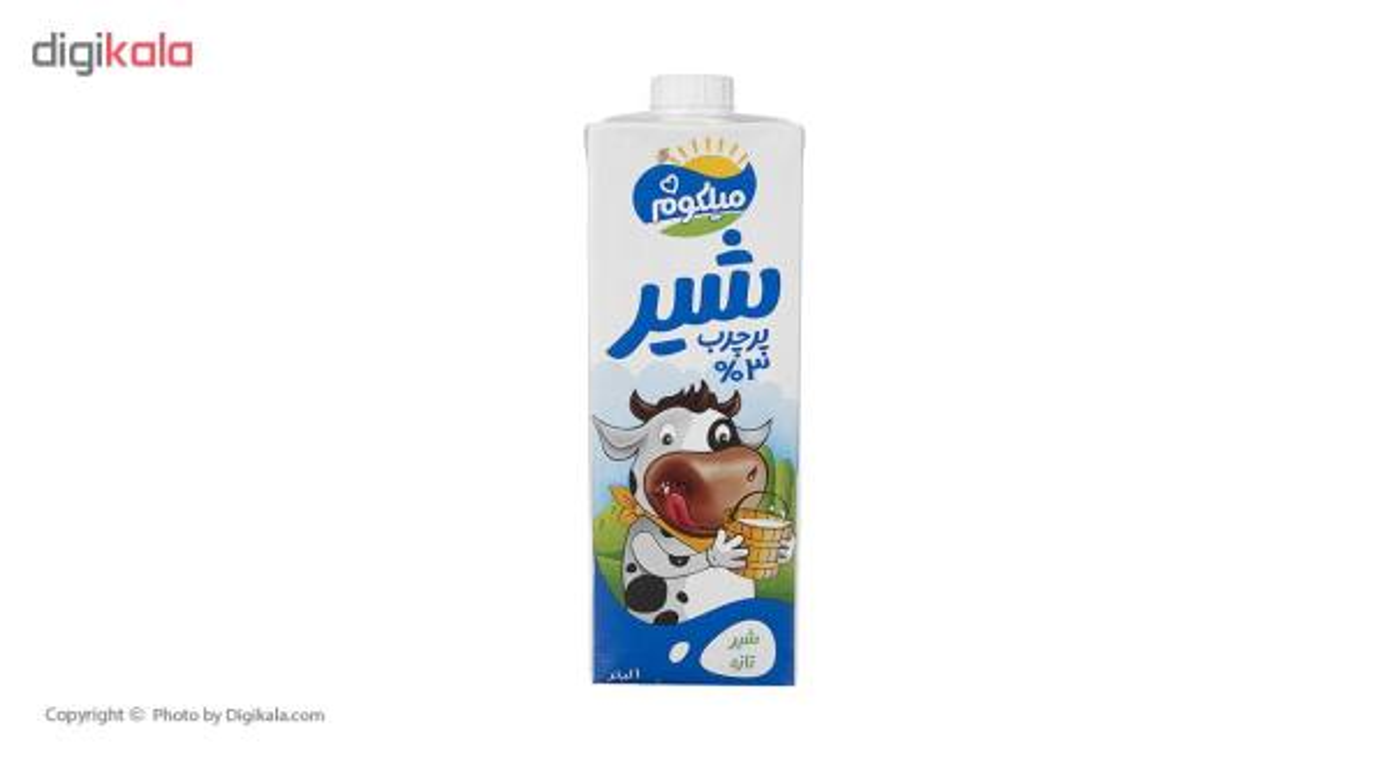 شیر پر چرب میهن مدل میلکوم حجم 1 لیتر