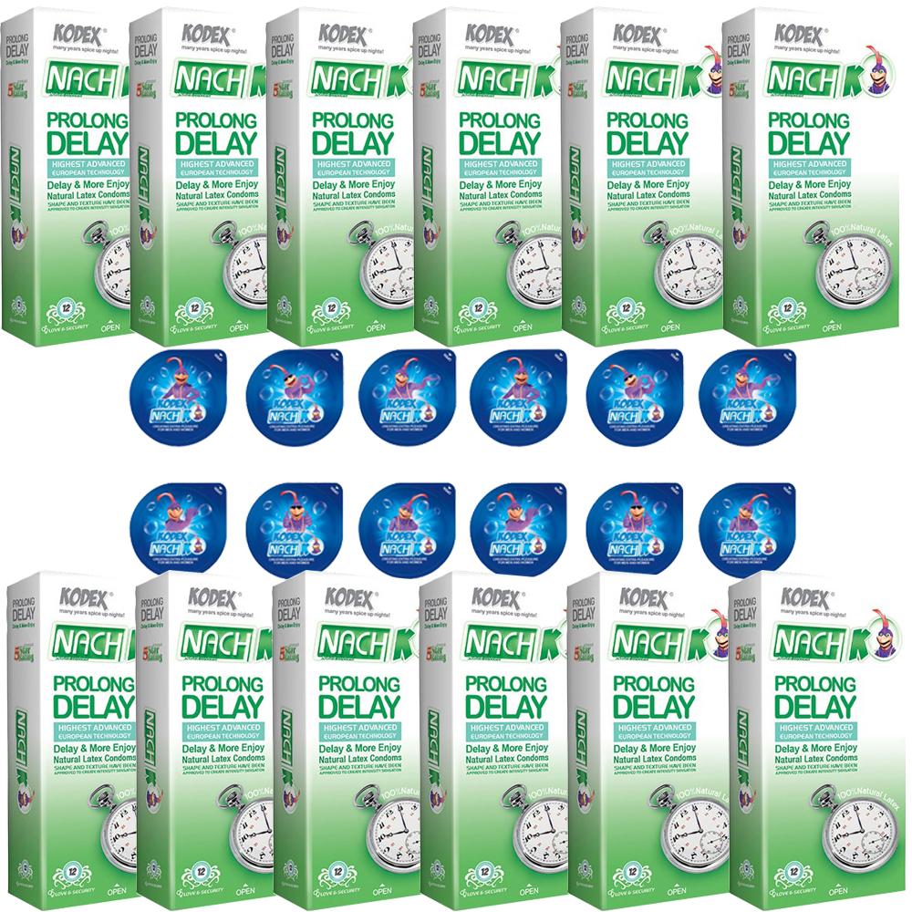 قیمت کاندوم ناچ کدکس مدل PROLONG DELAY مجموعه 12 عددی به همراه کاندوم ناچ کدکس مدل بلیسر بسته 12 عددی