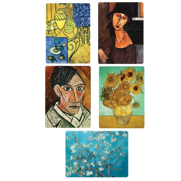 مگنت یخچال طرح نقاشان برتر دنیا کد 12 بسته 5 عددی