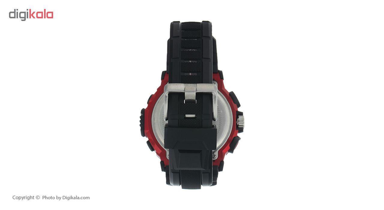 ساعت مچی دیجیتال مردانه لاروس مدل AD1173-1117 به همراه دستمال مخصوص نانو برند کلیر واچ