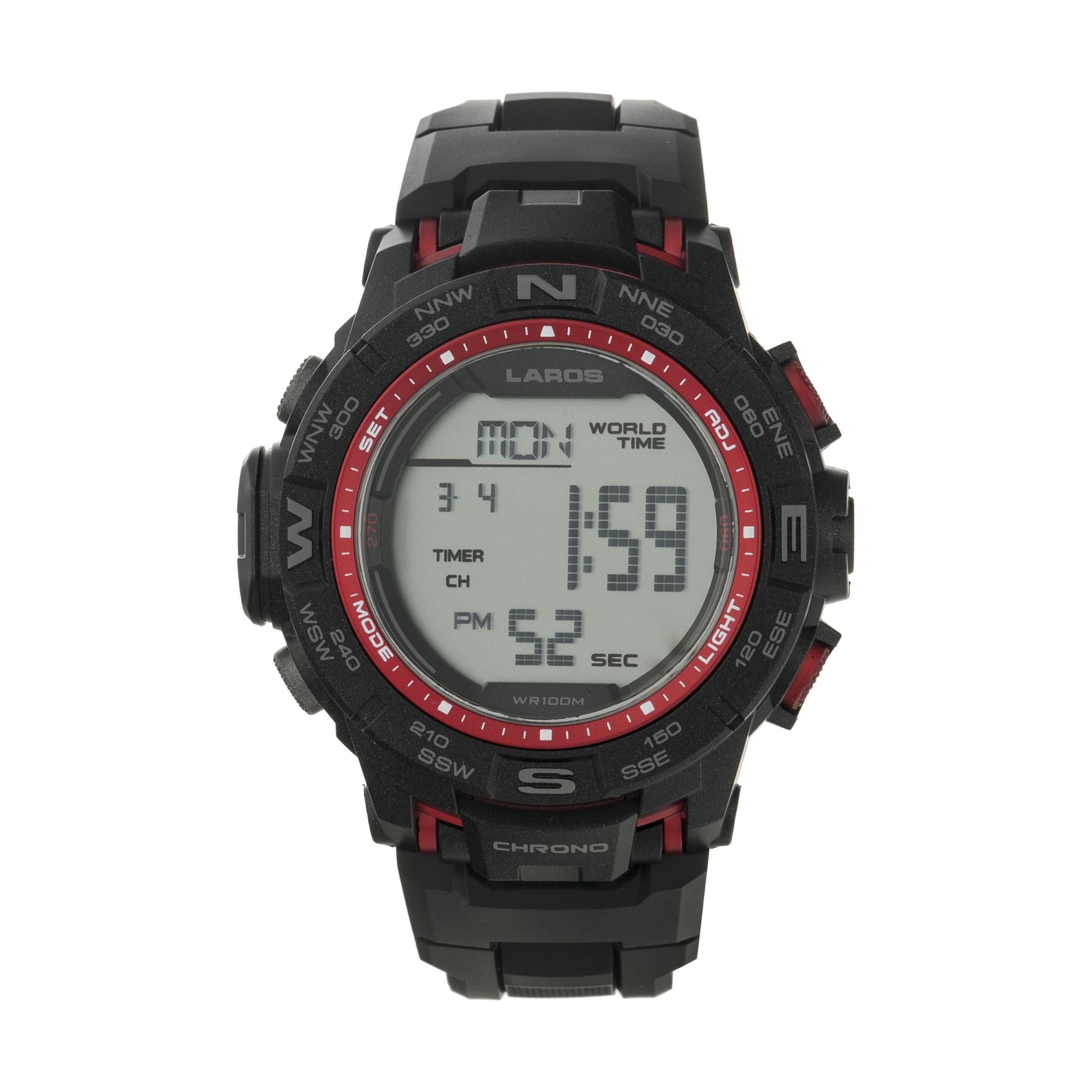 ساعت مچی دیجیتال مردانه لاروس مدل M1173-0318  به همراه دستمال مخصوص نانو برند کلیر واچ 26