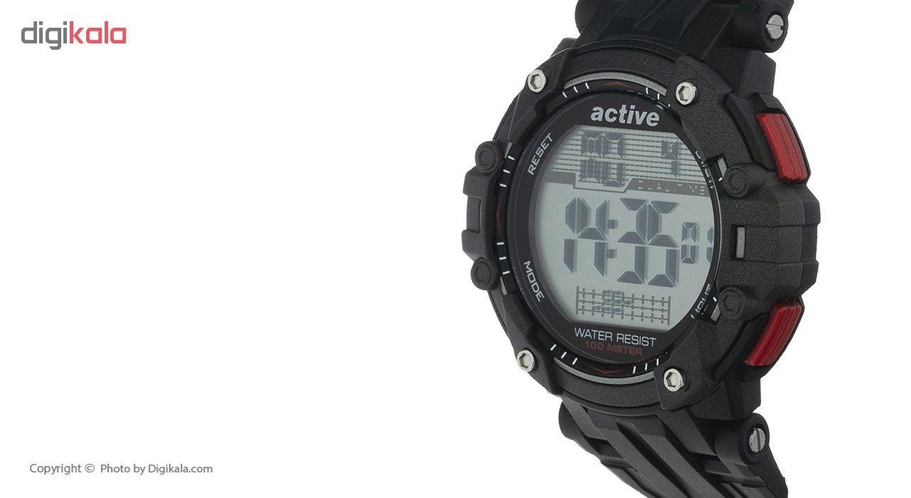 ساعت مچی مردانه اکتیو مدل YP17737 به همراه دستمال مخصوص نانو برند کلیر واچ