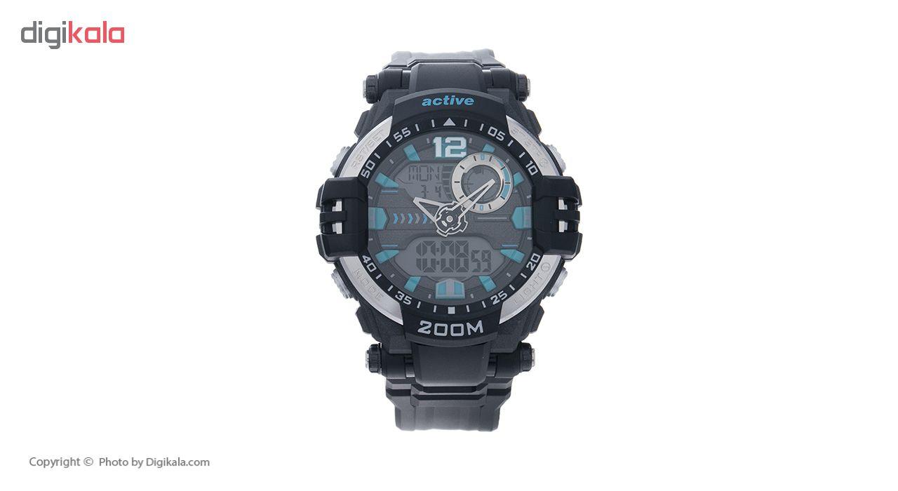 خرید ساعت مچی مردانه اکتیو مدل YP 17732 به همراه دستمال مخصوص نانو برند کلیر واچ