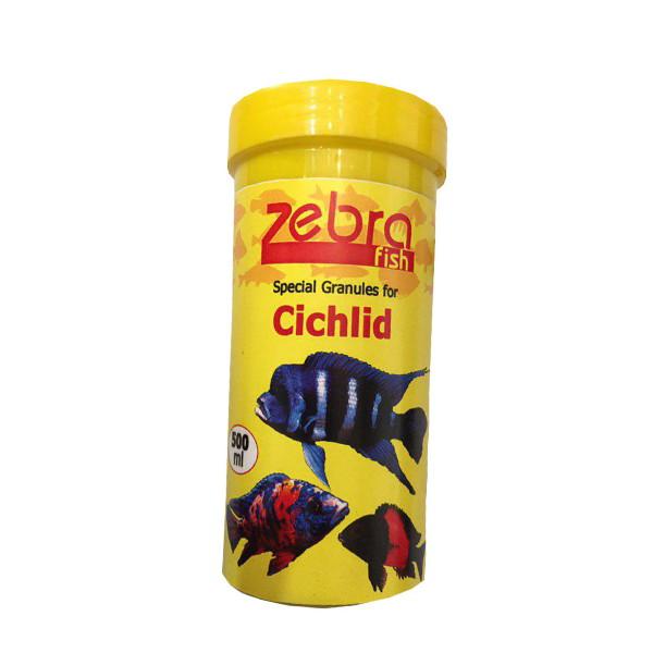 غذای ماهی زبرا مدل special Granules for Cichlid حجم 500 میلی لیتر