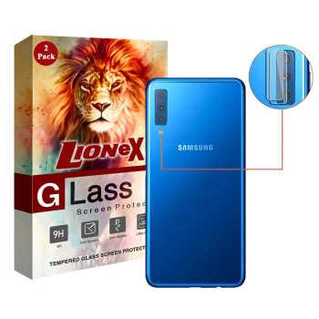 محافظ لنز دوربین لایونکس مدل UTFS مناسب برای گوشی موبایل سامسونگ Galaxy A7 2018 بسته دو عددی