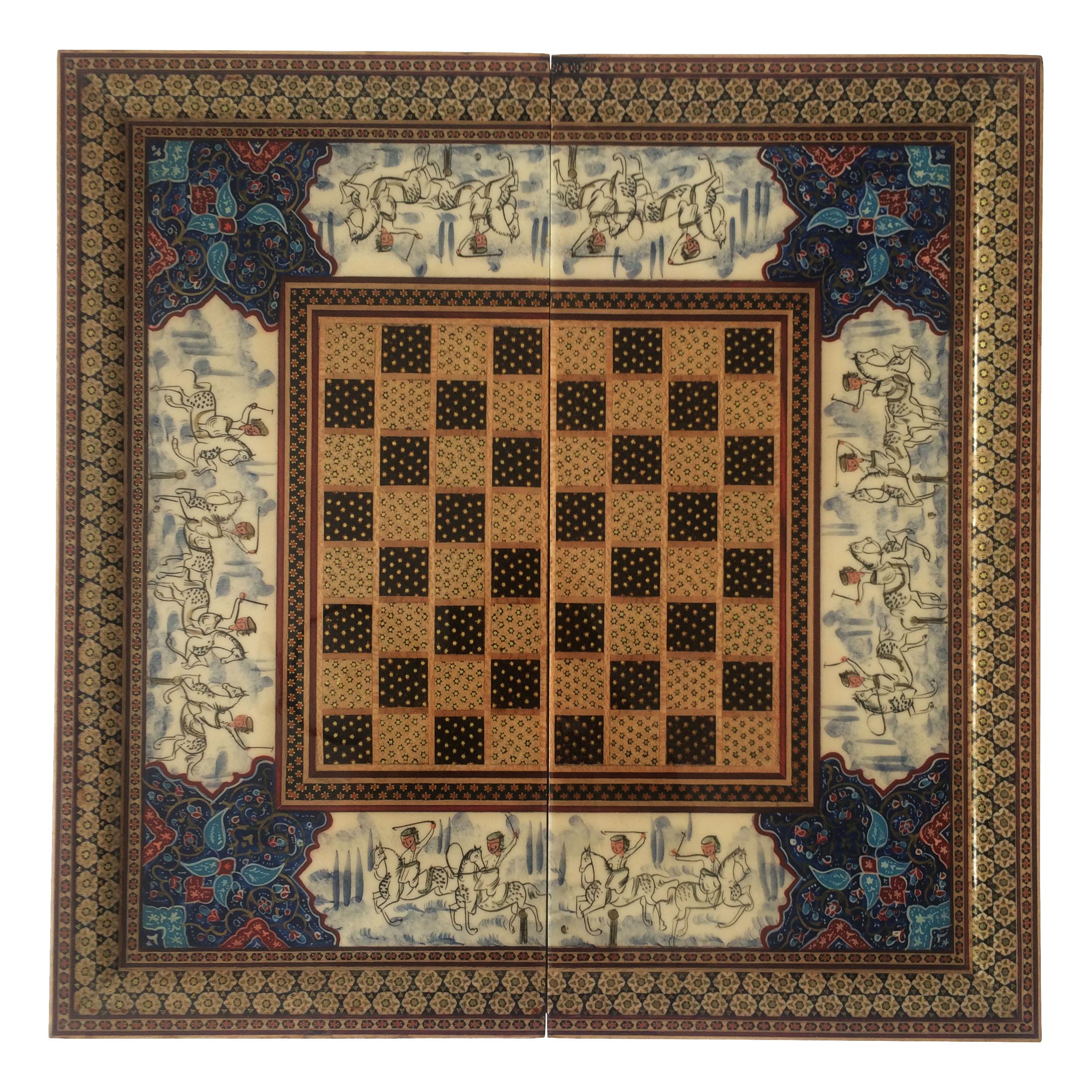 صفحه شطرنج خاتم کاری مدل M1