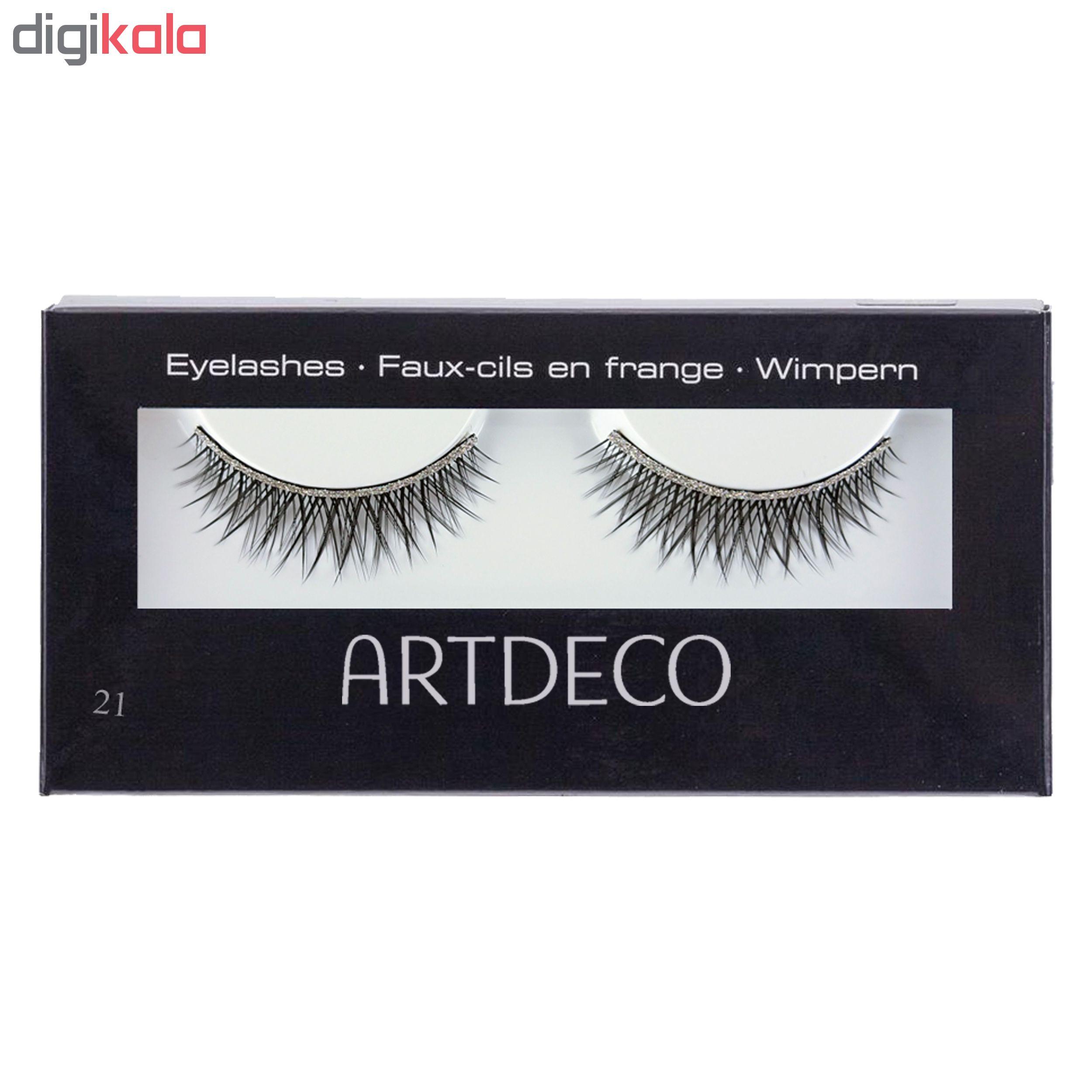 مژه مصنوعی آرت دکو مدل Glamour Eyelashes شماره 21