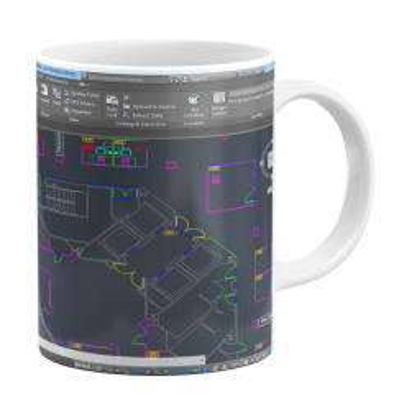 ماگ طرح نقشه کشی کد 9293