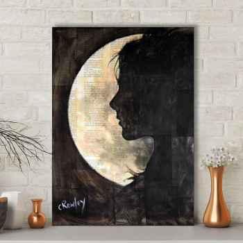 تابلو شاسی گالری استاربوی طرح تنهایی و ماه مدل هنری 592