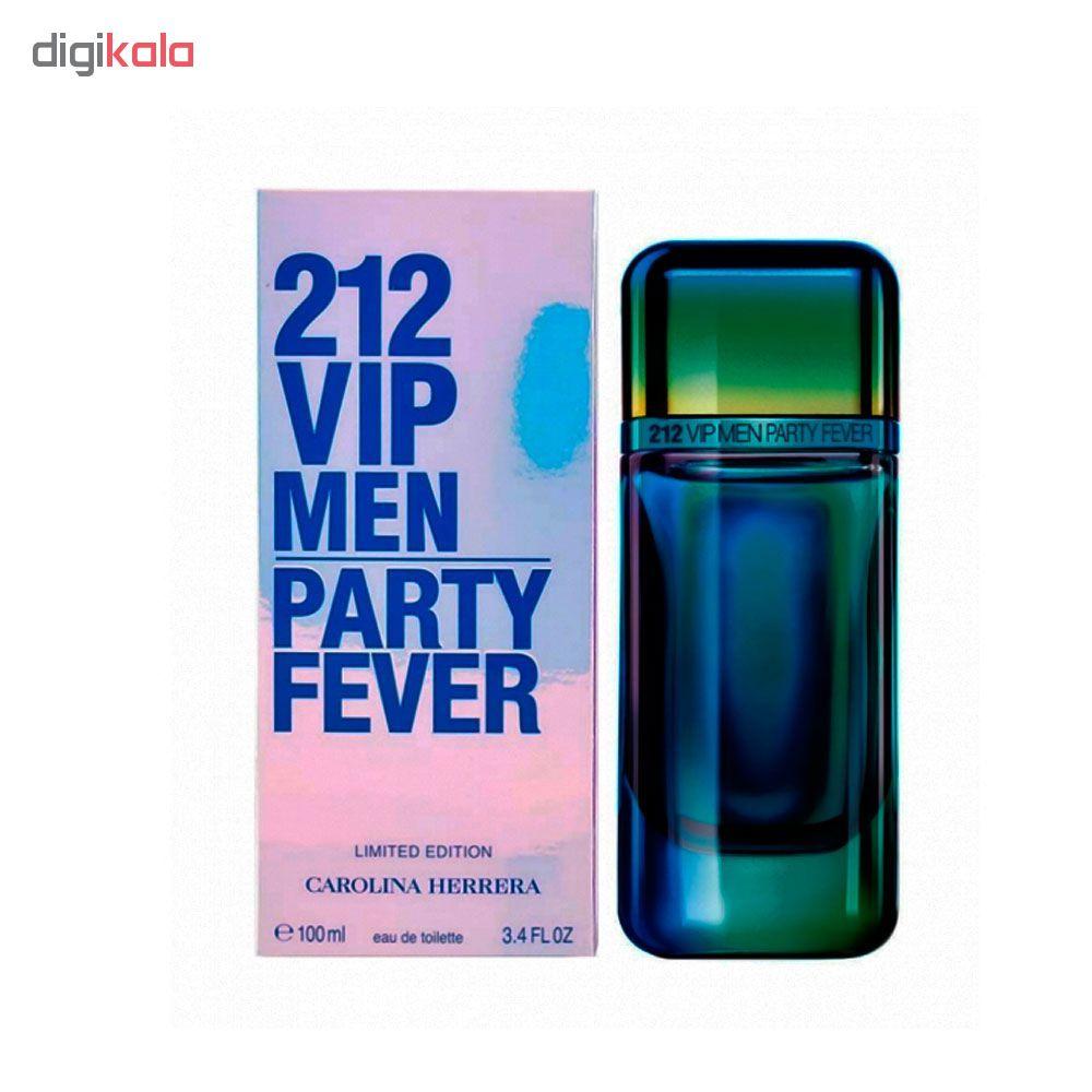 خرید اینترنتی ادو تویلت مردانه کارولینا هررا مدل VIP 212 Men Party Fever حجم 100 میلی لیتر اورجینال