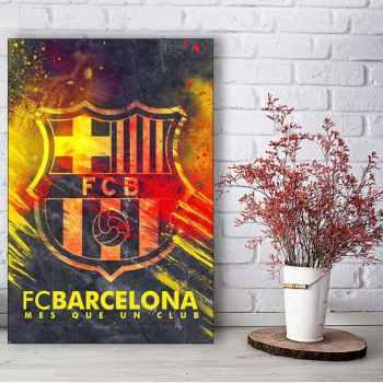 تابلو شاسی گالری استاربوی طرح بارسلونا مدل فوتبال-هنری 441
