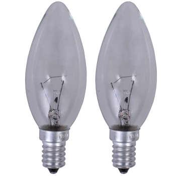 لامپ شمعی 40 وات نارون مدل Clear پایه E14 بسته 2 عددی