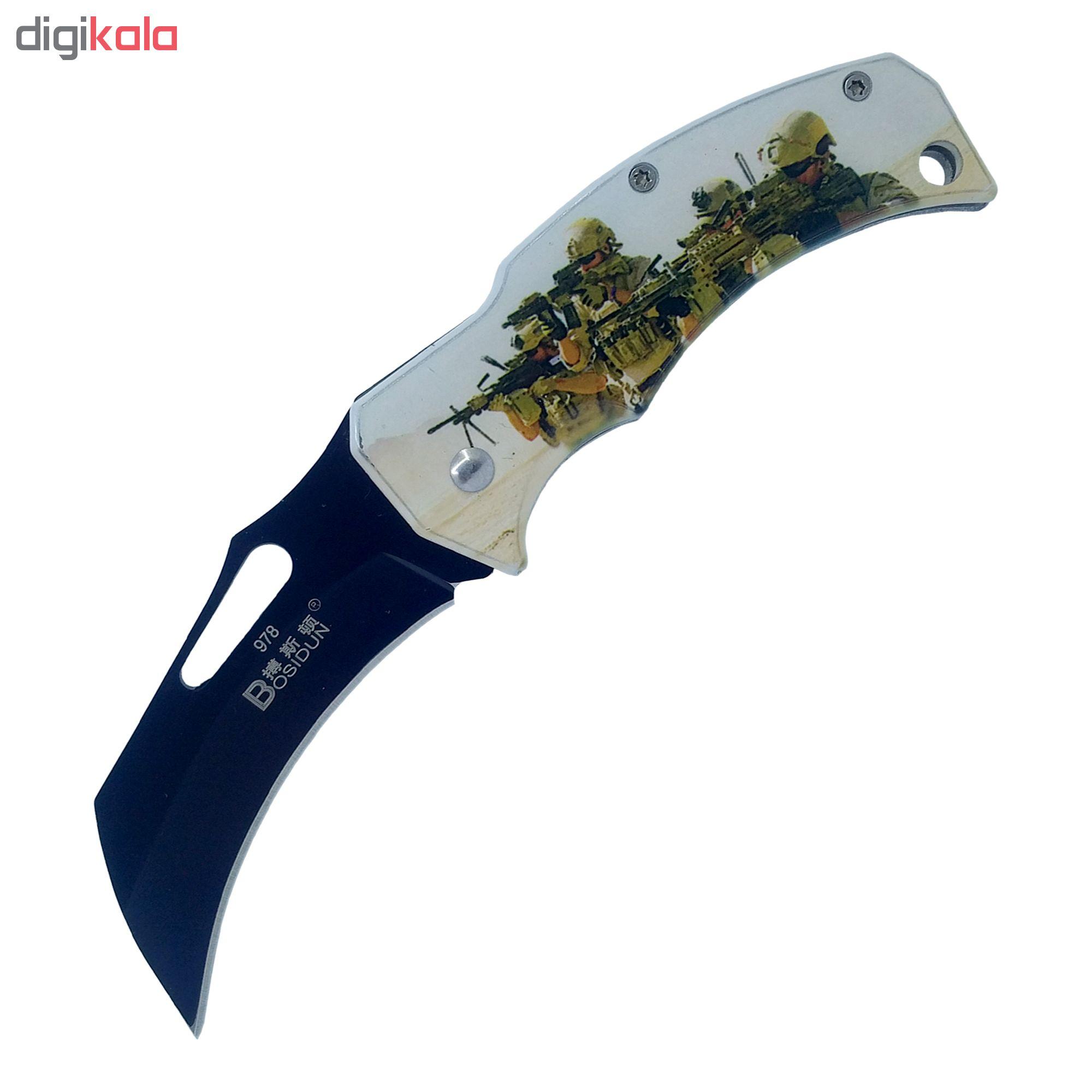 چاقو سفری تاشو باسیدان مدل b-978