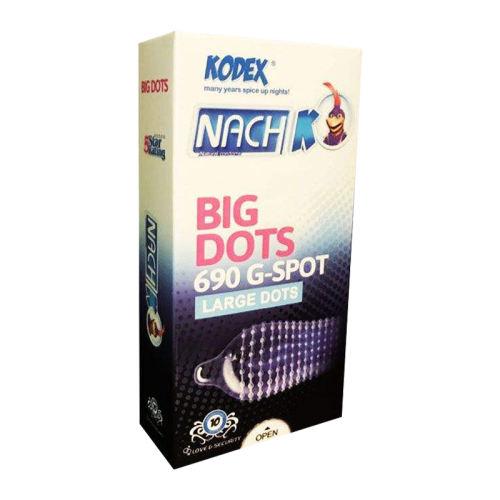 کاندوم خاردار ناچ کدکس مدل BIG DOTS بسته 10 عددی
