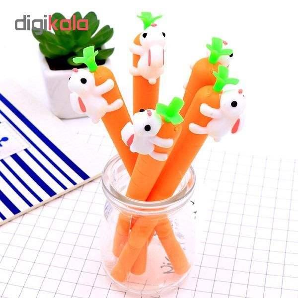 خرید لوازم تحریر فانتزی - روان نویس فانتزی با طرح هویج و خرگوش چند عدد داخل لیوان