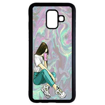 کاور طرح دخترانه کد 9475 مناسب برای گوشی موبایل سامسونگ Galaxy a8 plus 2018