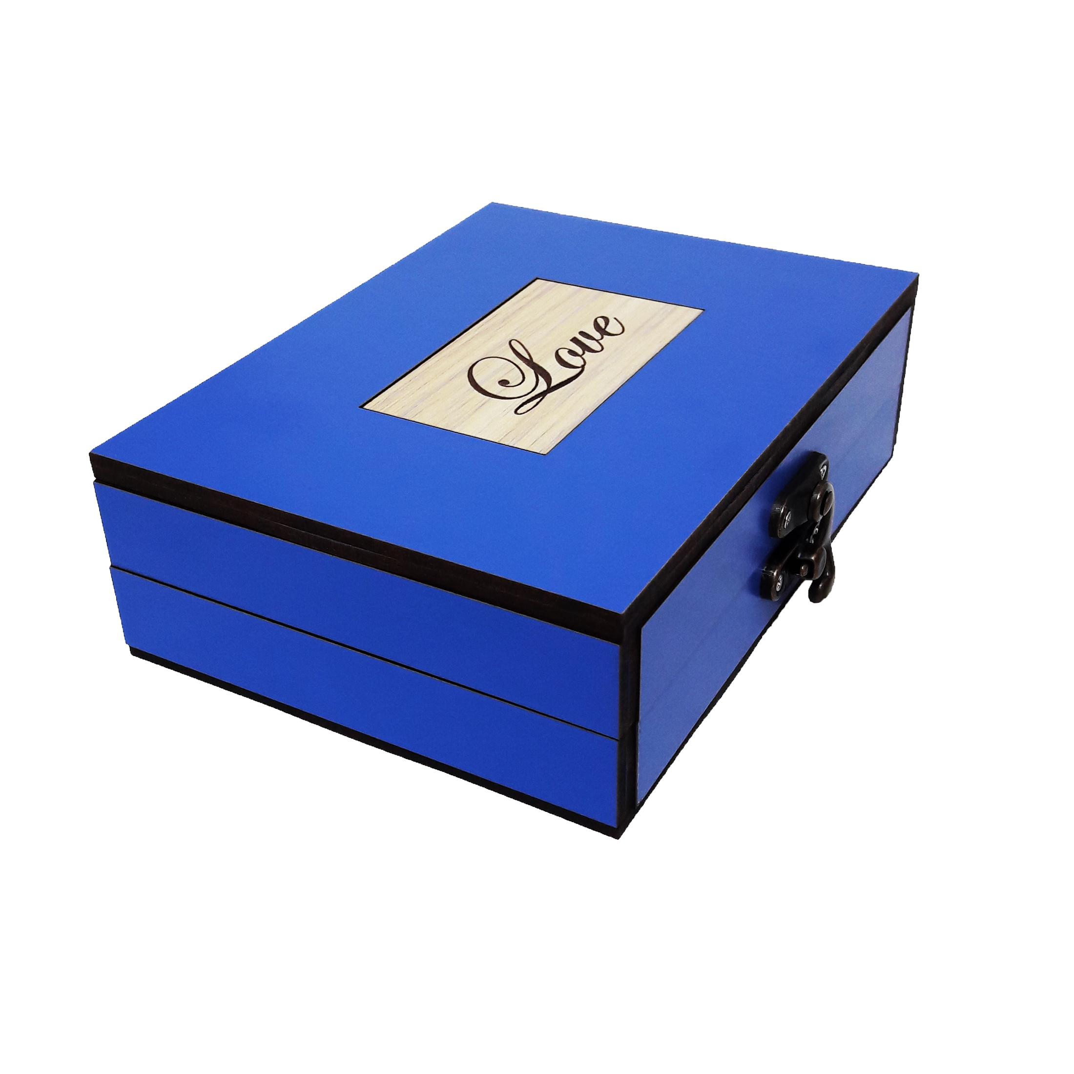 خرید                      جعبه هدیه چوبی کادویی آیهان باکس مدل 61
