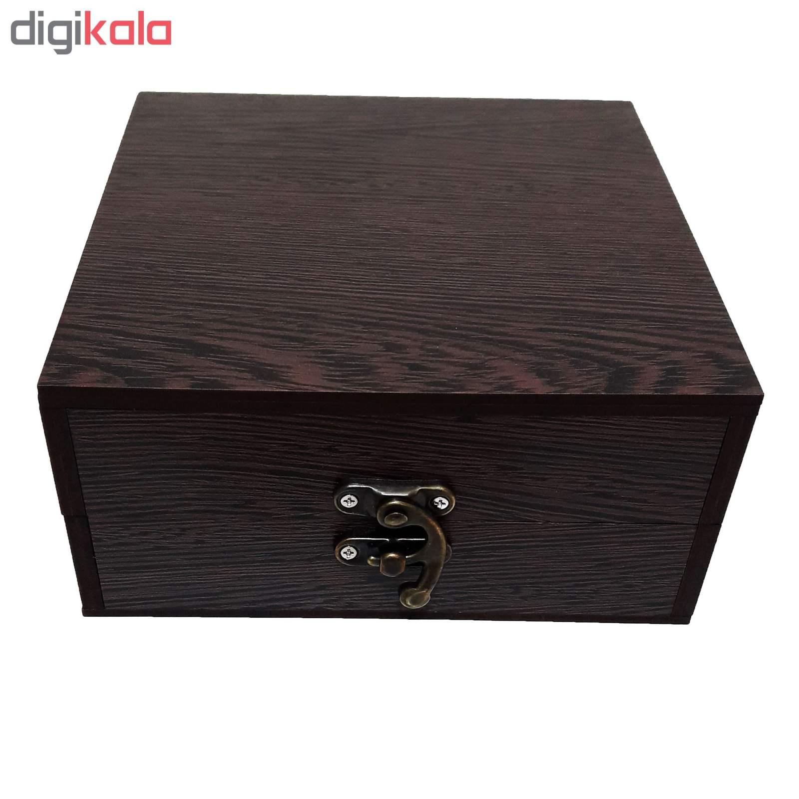 خرید                      جعبه هدیه چوبی کادو آیهان باکس مدل 63
