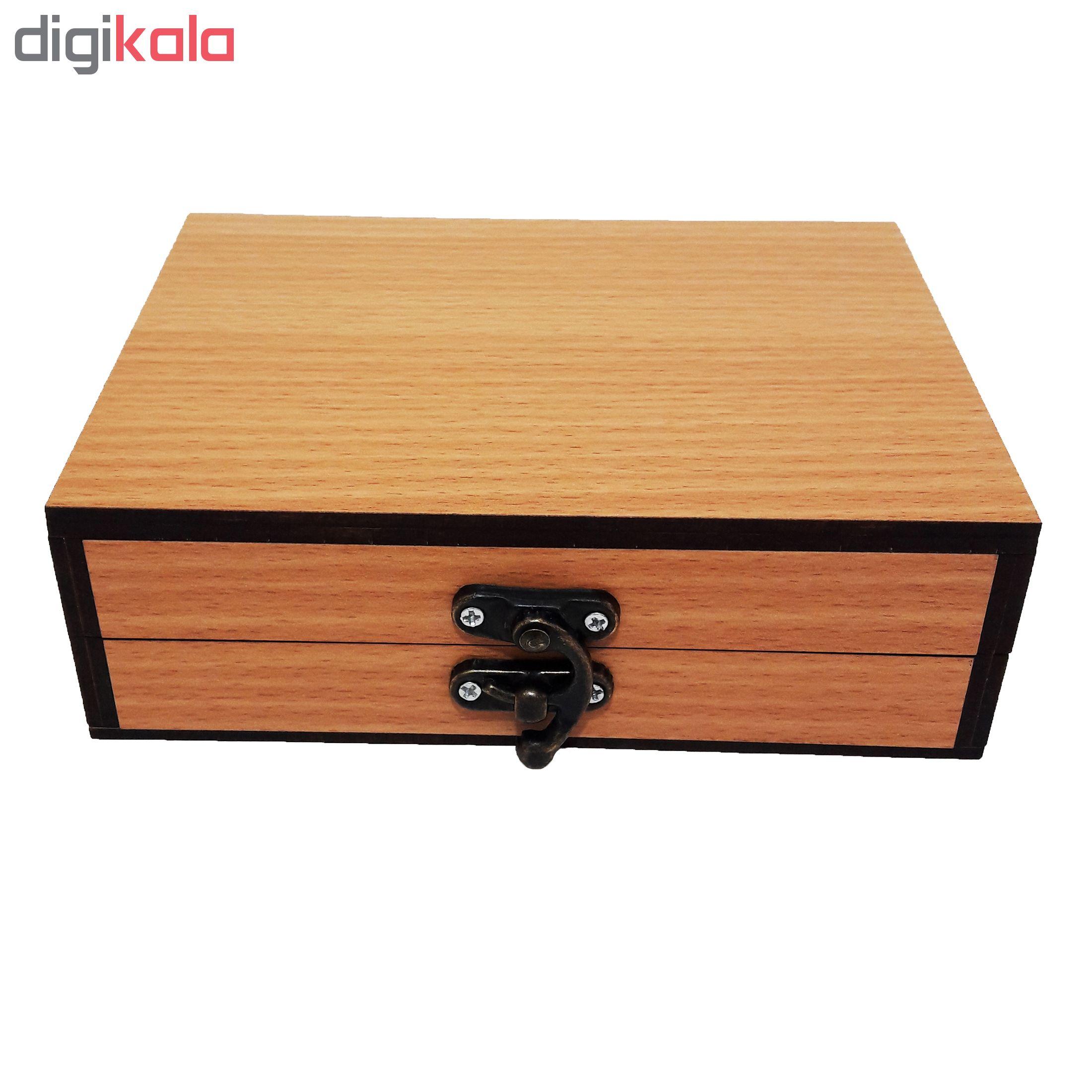 خرید                      جعبه هدیه چوبی کادو آیهان باکس مدل 73