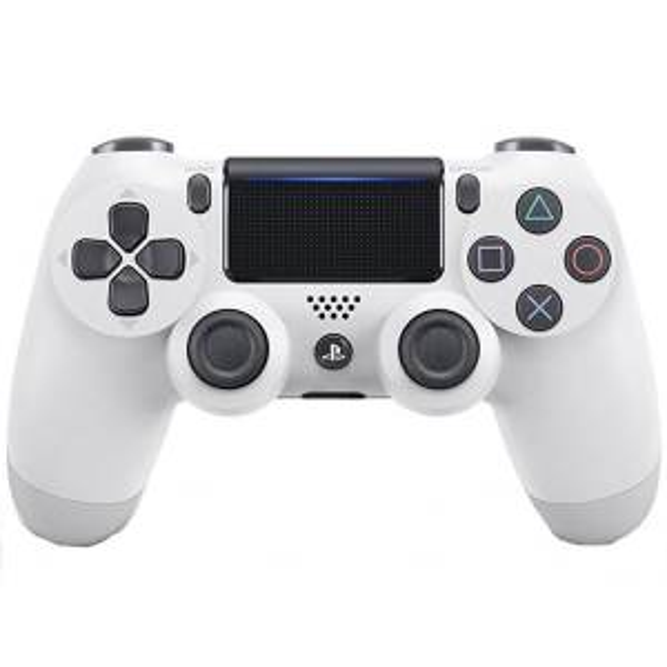 دسته بازی بی سیم سونی مدل Dualshock 4 White مناسب برای PS4