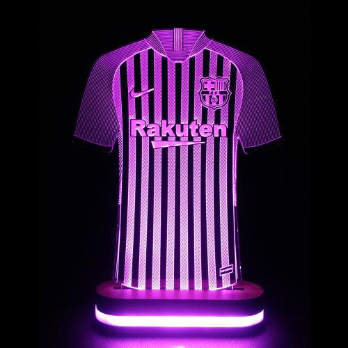 چراغ خواب طرح پیراهن تیم بارسلونا کد 1147