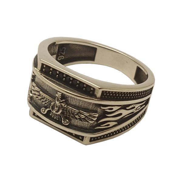 انگشتر نقره مردانه بلو استون کد 3981000-63